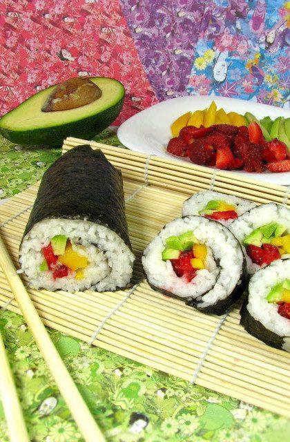 Maki Sushi z Owocami