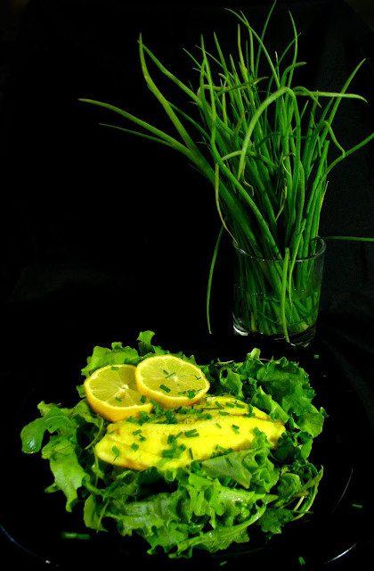 Ryba w Sosie Cytrynowym i Mix Sałat
