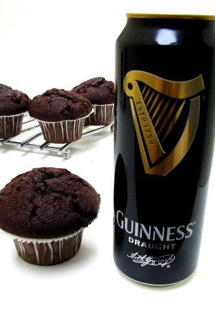 Czekoladowe Muffiny z piwem Guinness