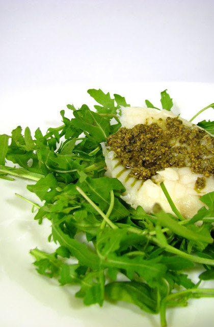 Ryba z Pesto na Rukoli