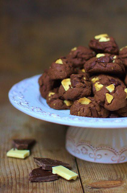 Podwójnie Czekoladowe Kakaowe Ciasteczka