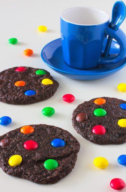 Kakaowe Ciasteczka z M&M`s