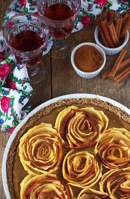Tarta z Jabłkami w Kształcie Róż