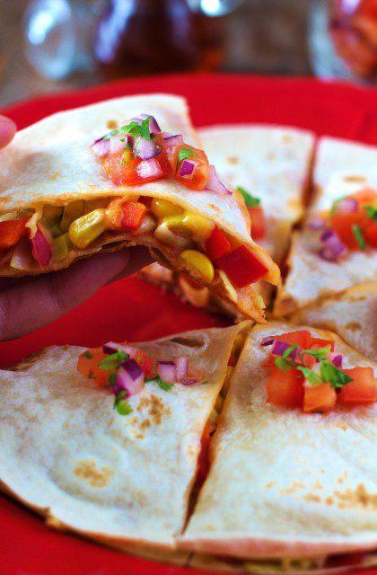 Quesadilla z Serem i Warzywami