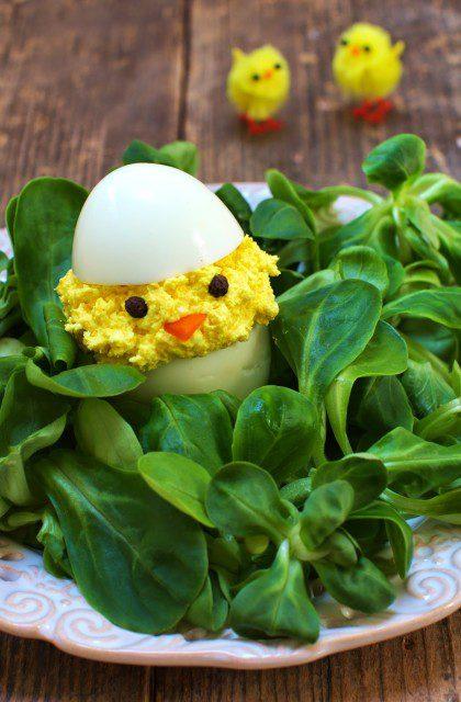 Jajka Faszerowane Fetą w Kształcie Kurczaków