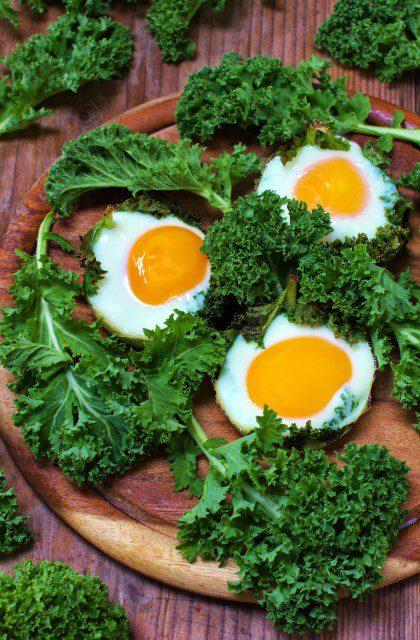 Jajka Zapiekane w Jarmużu