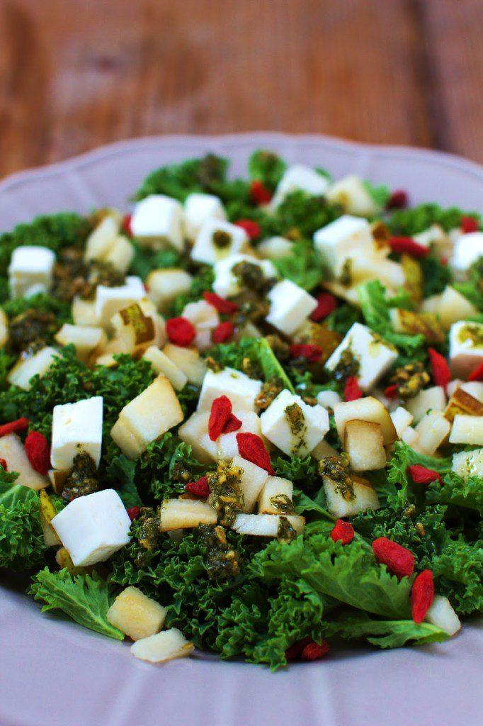 Salatka Z Jarmuzu Z Feta I Gruszka Just My Delicious