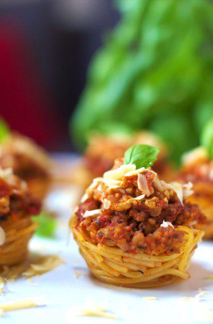 Muffiny ze Spaghetti Bolognese
