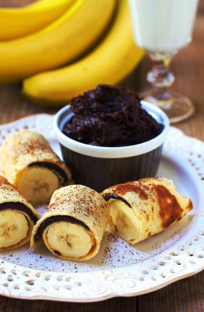 Naleśniki z Bananami i Czekoladą