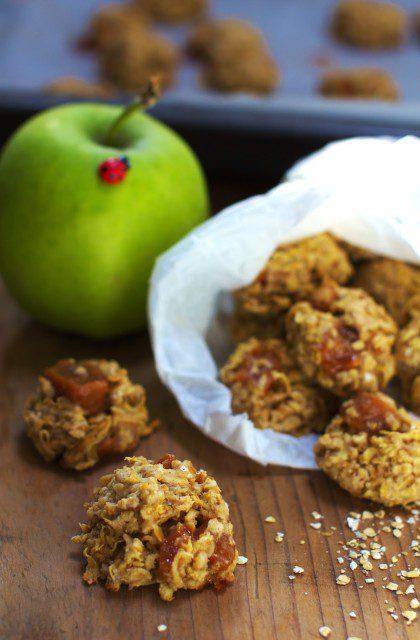 Owsiane Ciasteczka z Jabłkami i Krówkami