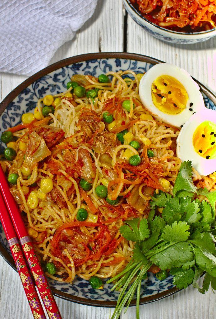 Makaron z Kimchi