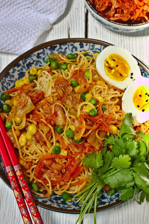 Makaron Z Kimchi Just My Delicious