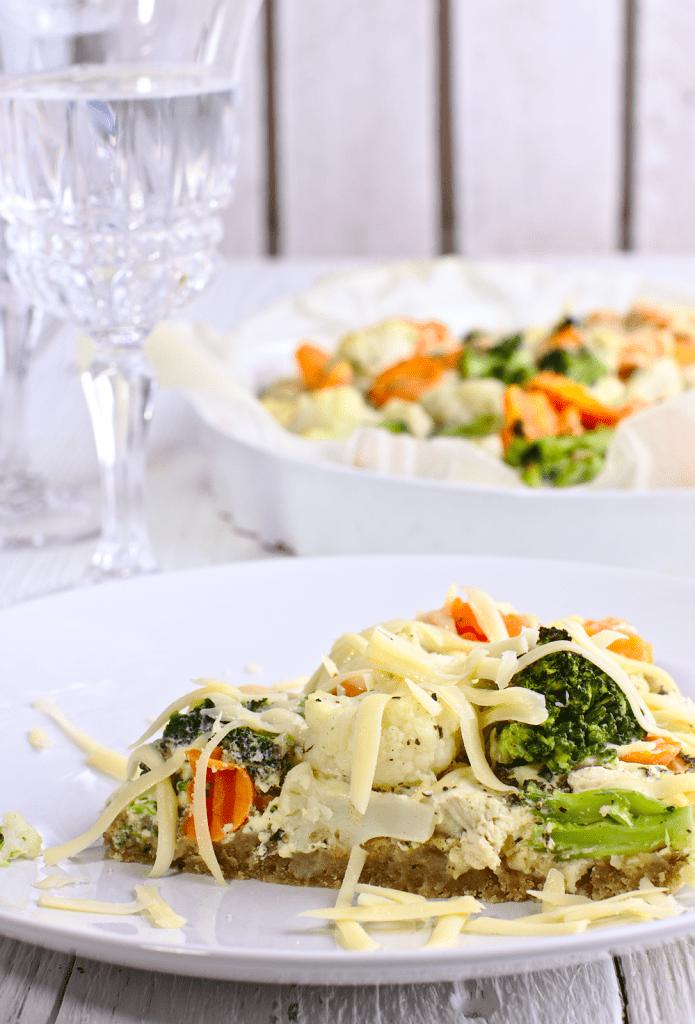 Tarta z Warzywami i Kurczakiem