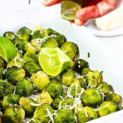 Brussels sprouts baked with lime and parmesan cheesewwwjustmydeliciouscom justmydelicious foodhellip