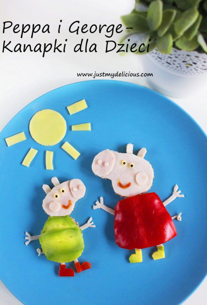 Peppa i George Kanapki dla Dzieci