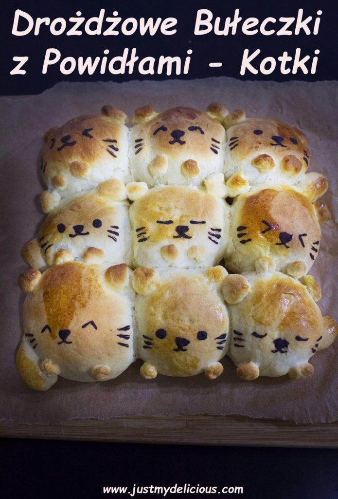Bułeczki Drożdżowe z Powidłami – Kotki