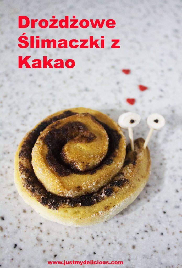 Drożdżowe Ślimaczki z Kakao