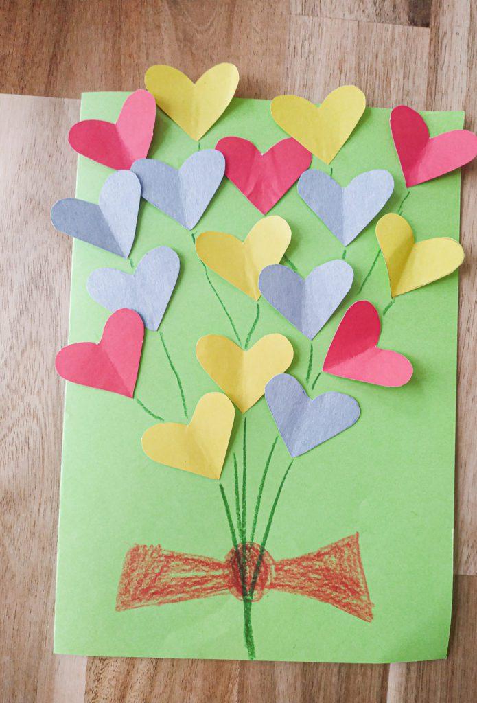 Kartka Walentynkowa Bukiet z Serduszek