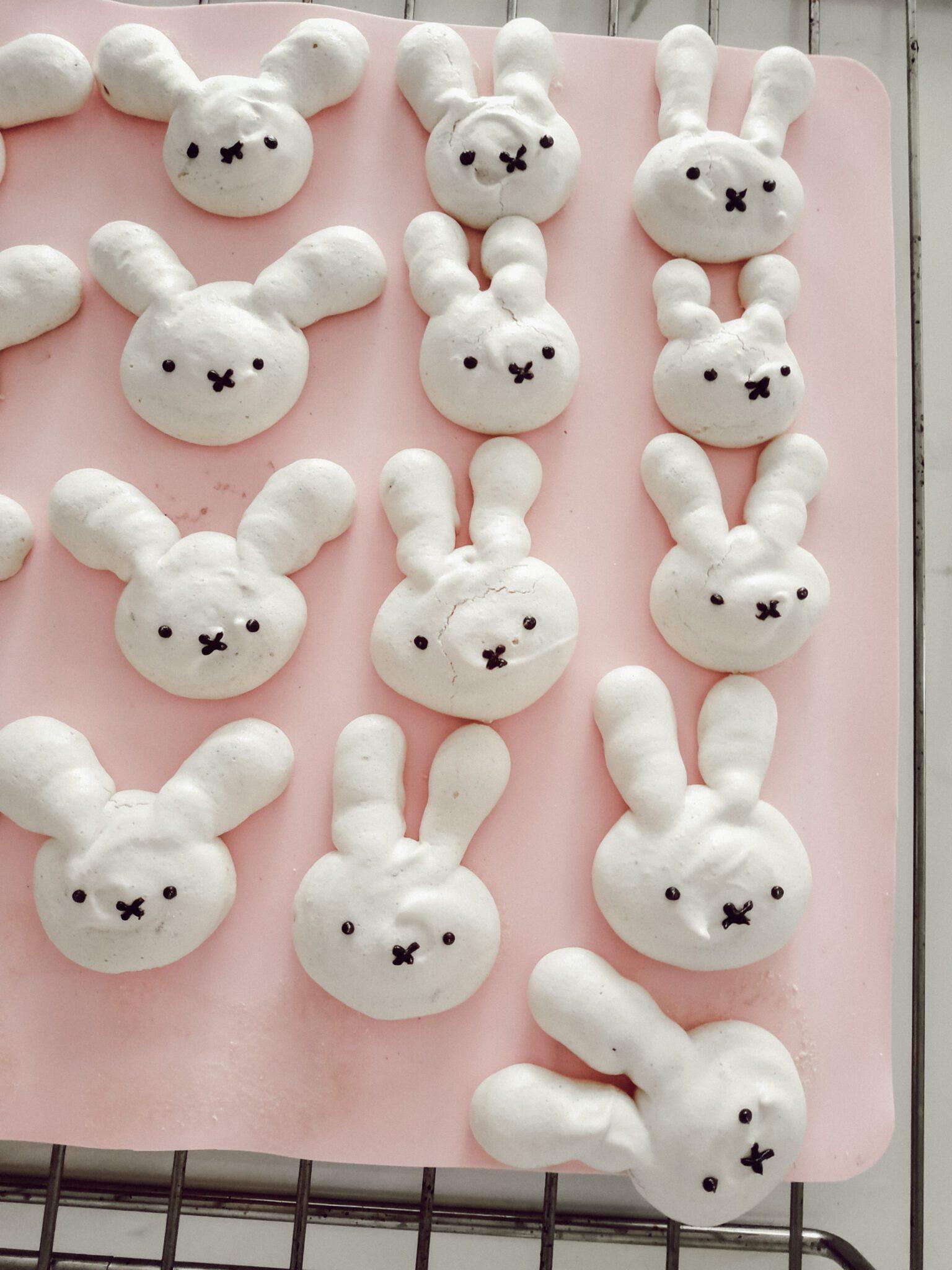 bezowe króliczki